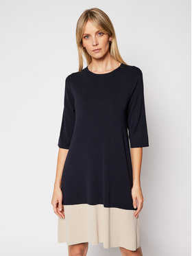 Weekend Max Mara Weekend Max Mara Плетена рокля Ostenda 53210217 Тъмносин Regular Fit