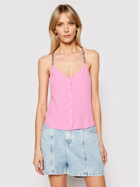 Tommy Jeans Tommy Jeans Top Tjw Cami Button DW0DW09762 Rosa Regular Fit
