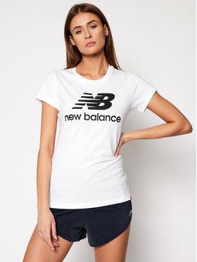 New Balance New Balance Тишърт Esse St Logo Tee NBWT9154 Бял Slim Fit