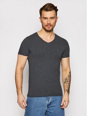 Tommy Hilfiger Tommy Hilfiger T-Shirt Stretch MW0MW13343 Šedá Slim Fit