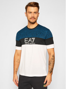 EA7 Emporio Armani EA7 Emporio Armani T-Shirt 6HPT12 PJ02Z 1100 Λευκό Regular Fit