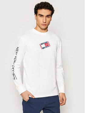 Tommy Jeans Tommy Jeans Halat Tjm Small Flag Box Logo Tee DM0DM10240 Alb Regular Fit