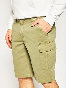 Calvin Klein Calvin Klein Szorty materiałowe K10K105316 Zielony Regular Fit
