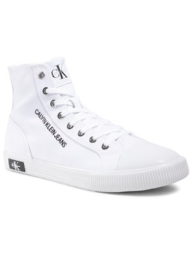 Calvin Klein Jeans Calvin Klein Jeans Teniși Vulcanized Sneaker Highlaceup Co YM0YM00019 Alb