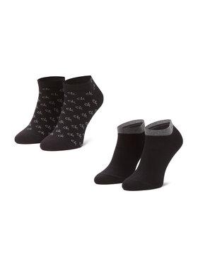Calvin Klein Calvin Klein Sada 2 párů pánských nízkých ponožek 100001762 Černá