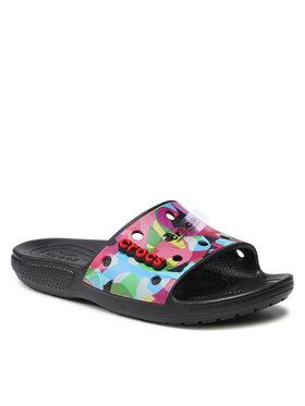 Crocs Crocs Pantoletten Classic Bubble Block Slide 207408 Schwarz