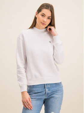 Calvin Klein Jeans Calvin Klein Jeans Суитшърт Embroidered Logo J20J212875 Бял Regular Fit