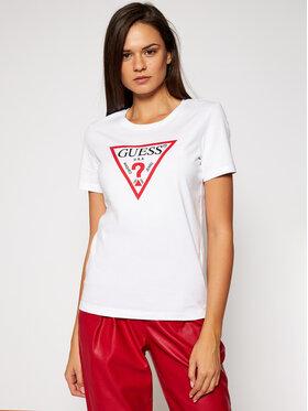 Guess Guess Marškinėliai Original Tee W0BI25 I3Z11 Balta Regular Fit
