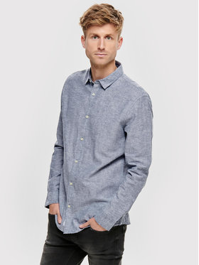 Only & Sons ONLY & SONS Риза Caiden 22012321 Син Slim Fit