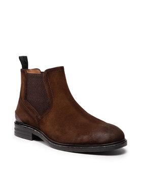 Pepe Jeans Pepe Jeans Kotníková obuv s elastickým prvkem Oregon Chelsea PMS50212 Hnědá