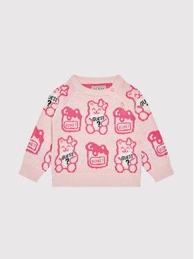 Guess Guess Sweter H1YT01 Z2S40 Różowy Regular Fit