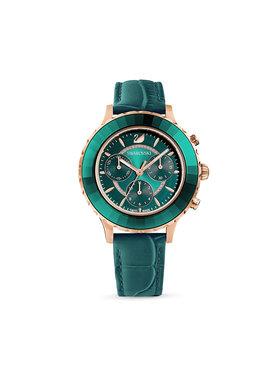 Swarovski Swarovski Zegarek Octea Lux Chrono 5452498 Zielony