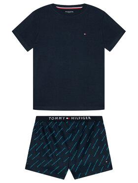 Tommy Hilfiger Tommy Hilfiger Pijama UB0UB00306 Bleumarin
