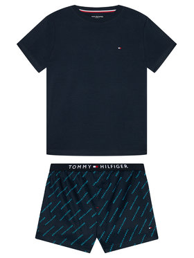 Tommy Hilfiger Tommy Hilfiger Pižama UB0UB00306 Tamsiai mėlyna