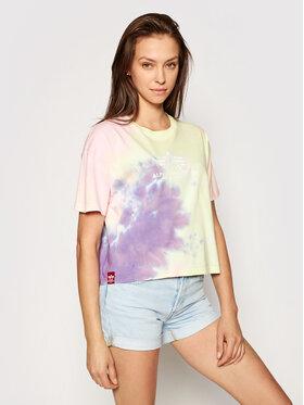 Alpha Industries Alpha Industries T-Shirt Basic T Batik 116083 Kolorowy Oversize