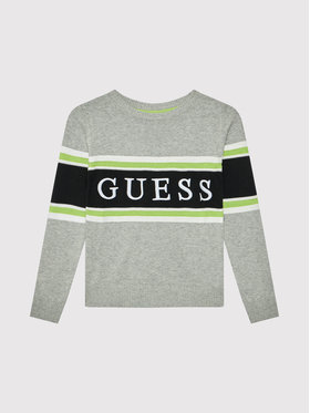 Guess Guess Pulover L1YR01 Z2S40 Gri Regular Fit