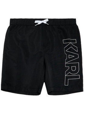 KARL LAGERFELD KARL LAGERFELD Short de bain Z20055 D Noir Regular Fit