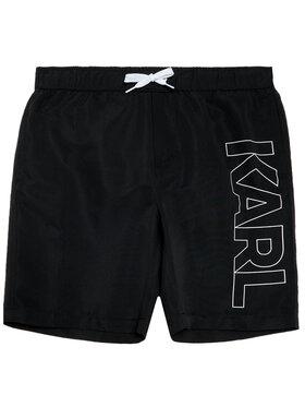 KARL LAGERFELD KARL LAGERFELD Σορτς κολύμβησης Z20055 D Μαύρο Regular Fit