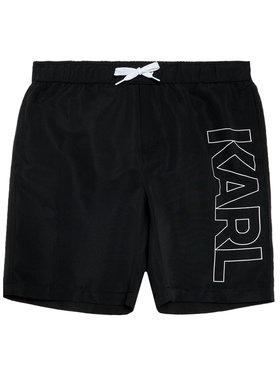 KARL LAGERFELD KARL LAGERFELD Szorty kąpielowe Z20055 D Czarny Regular Fit