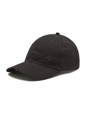 4F 4F Kepurė su snapeliu H4L21 CAD004 Juoda