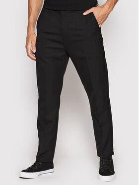 Carhartt WIP Carhartt WIP Kalhoty z materiálu Menson I028653 Černá Regular Fit