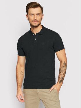 Selected Homme Selected Homme Тениска с яка и копчета Embroidery 16049517 Черен Regular Fit