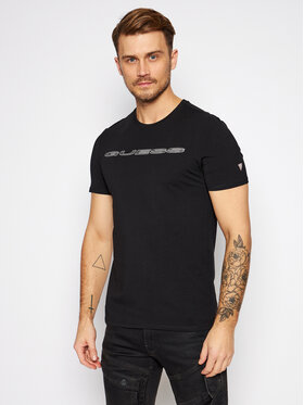 Guess Guess T-Shirt M0BI98 J1300 Černá Slim Fit