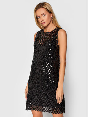 Pinko Pinko Коктейлна рокля Rafaelas 1G16M4 Y7EE Черен Regular Fit