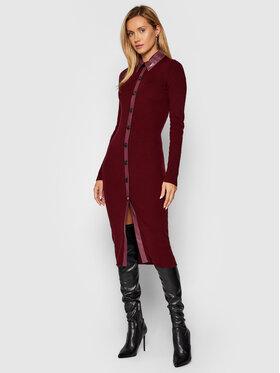 Pinko Pinko Úpletové šaty Rubesco 1G16AL Y77N Bordó Slim Fit