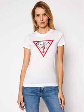 Guess Guess T-Shirt W84I67 K7WA0 Biały Slim Fit