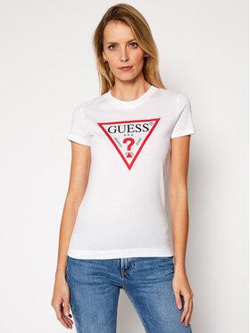 Guess Guess T-Shirt W84I67 K7WA0 Weiß Slim Fit
