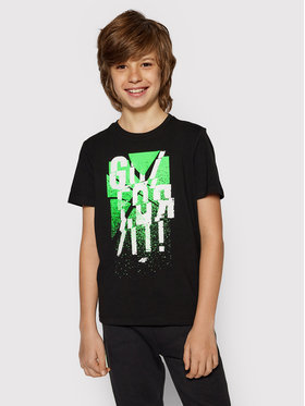 4F 4F T-shirt JTSM004A Crna Regular Fit