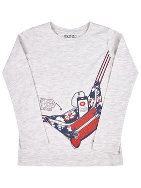Primigi Primigi Bluză Happy Shopping 45212502 Gri Regular Fit