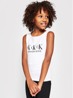 Calvin Klein Jeans Calvin Klein Jeans Top Repeat IG0IG00893 Bílá Regular Fit