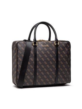 Guess Guess Τσάντα για laptop Vezzola (4G Print) HMVEZL P1314 Καφέ