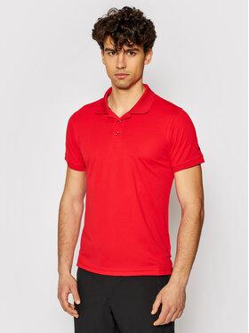 CMP CMP Тениска с яка и копчета 3T60077 Червен Regular Fit