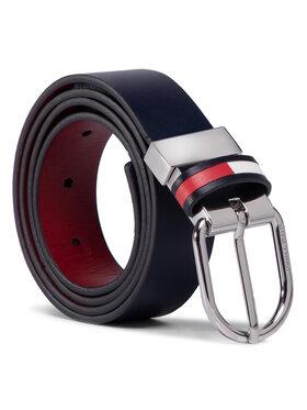 Tommy Jeans Tommy Jeans Dámský pásek Tjw Corp Leather Rev Belt 3.0 AW0AW08064 Tmavomodrá