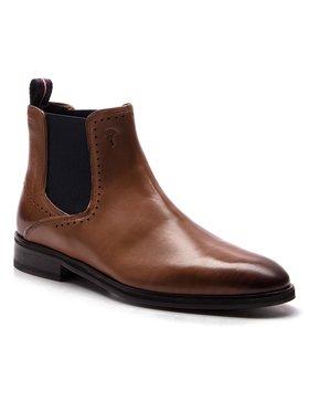 Joop! Joop! Kotníková obuv s elastickým prvkem Kleitos 4140004162 Hnědá