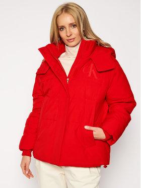 Calvin Klein Jeans Calvin Klein Jeans Kurtka zimowa J20J214856 Czerwony Regular Fit
