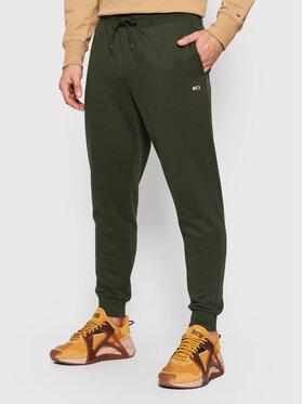 Tommy Jeans Tommy Jeans Spodnie dresowe Fleece DM0DM11163 Zielony Slim Fit