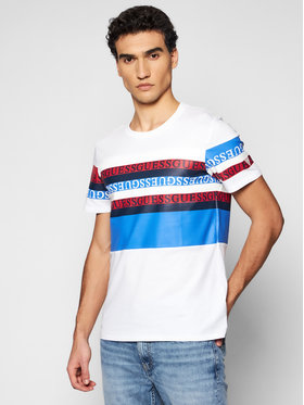 Guess Guess T-Shirt M1RI87 K8HM0 Biały Slim Fit