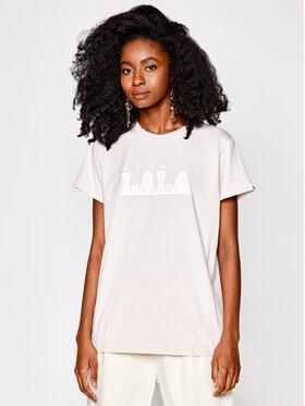 PLNY LALA PLNY LALA T-Shirt Classic PL-KO-CL-00191 Beige Regular Fit