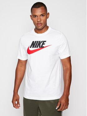 NIKE NIKE T-Shirt Icon Futura AR5004 Weiß Standard Fit