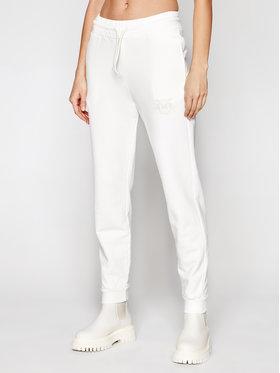 Pinko Pinko Spodnie dresowe Carico PE 21 BLK01 1G1638 Y72Z Biały Regular Fit
