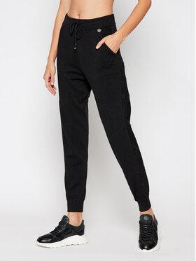 TwinSet TwinSet Teplákové kalhoty 202TP3384 Černá Regular Fit