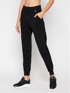 TwinSet TwinSet Teplákové nohavice 202TP3384 Čierna Regular Fit
