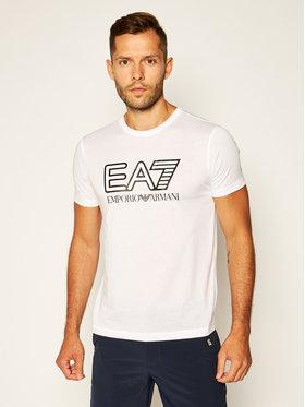 EA7 Emporio Armani EA7 Emporio Armani T-Shirt 6HPT81 PJM9Z 1100 Biały Regular Fit