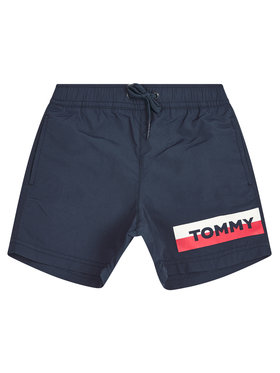 TOMMY HILFIGER TOMMY HILFIGER Plavecké šortky Medium Drawstring UB0UB00277 M Tmavomodrá Regular Fit