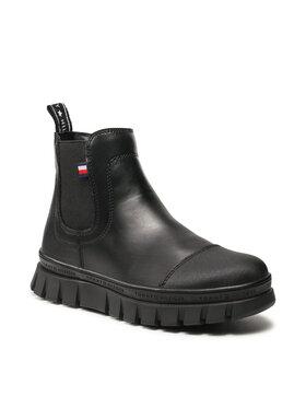 Tommy Hilfiger Tommy Hilfiger Ботуши Chelsea Boot T3A5-32025-0289 S Черен