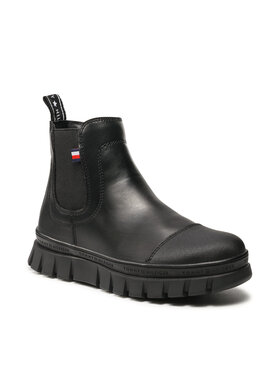 Tommy Hilfiger Tommy Hilfiger Kozaki Chelsea Boot T3A5-32025-0289 S Czarny
